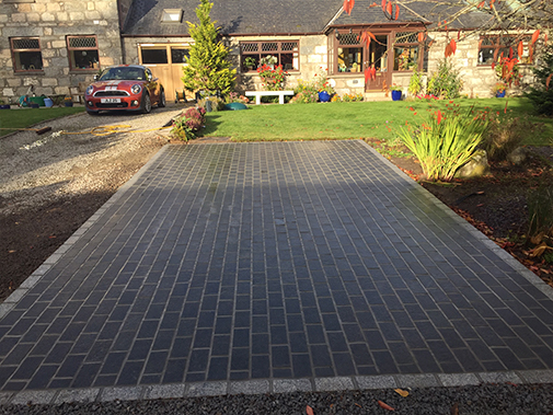 SETTS DARK GREY 10X20X10 1 X FACE FLAMED