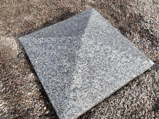 SILVER GRANITE PYRAMID PILLAR CAPS