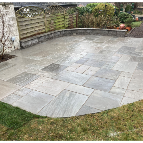 KANDLA GREY 4 SIZE PATIO PACK NATURAL £'S/m2